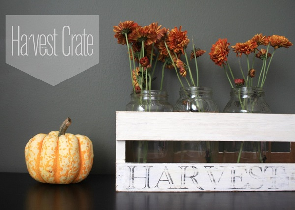 Harvest wooden crate