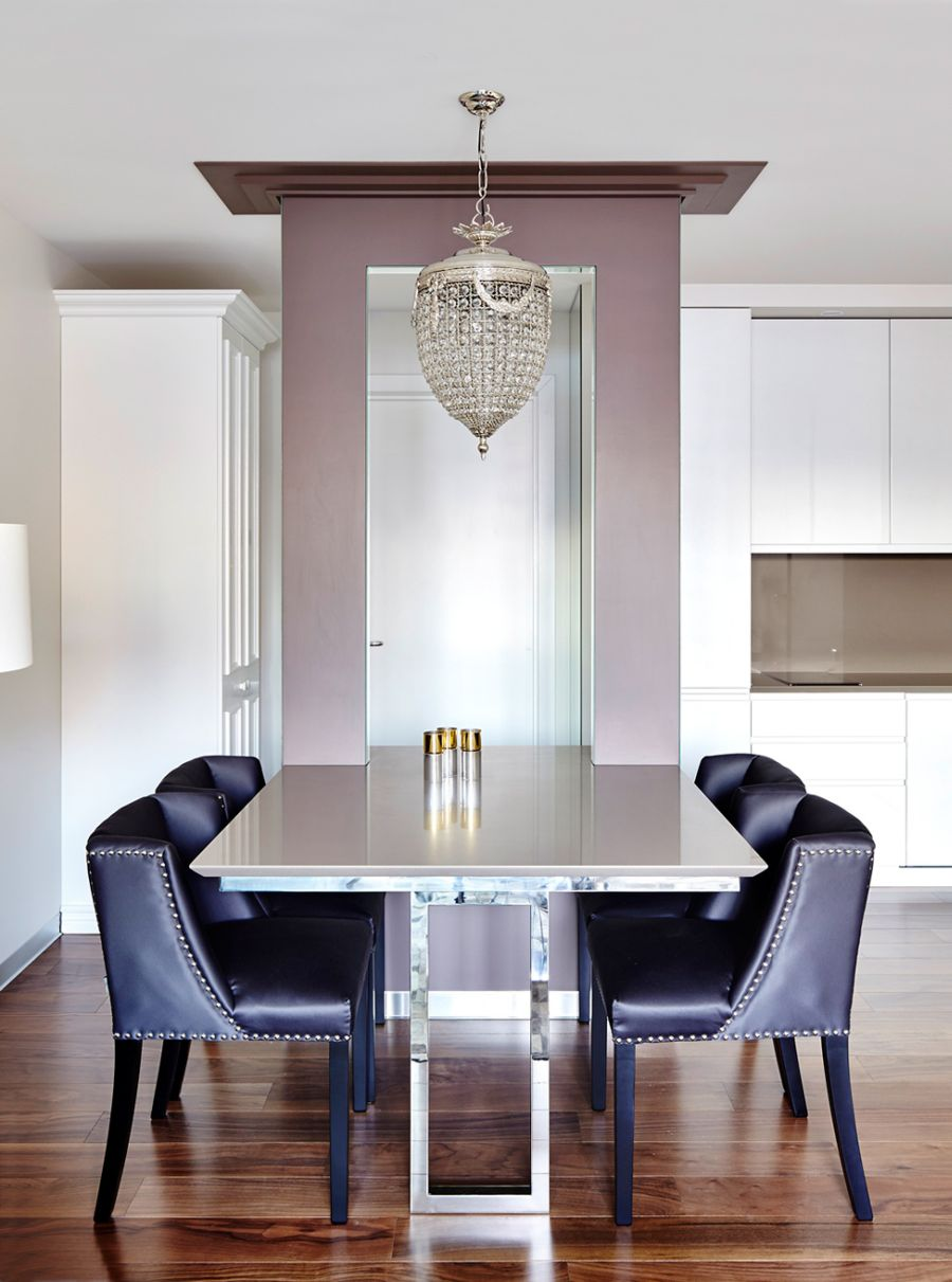 Hint of purple brings in a luxurious appeal