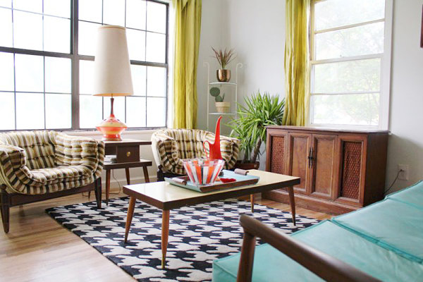 Home featuring Mid-Century modern furniture and decor