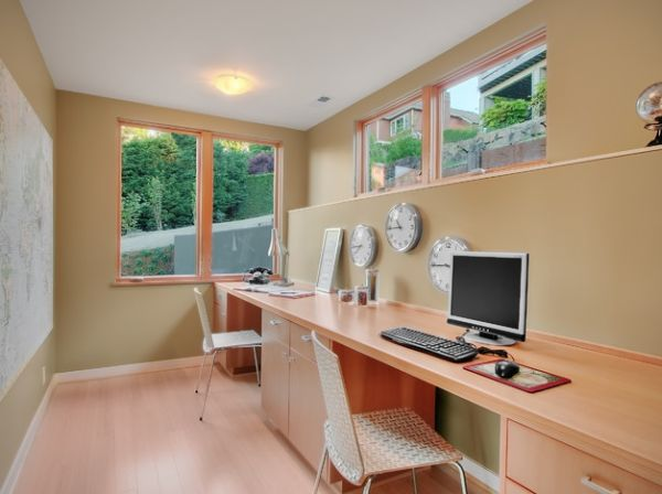 Home office for a couple that works across time zones!