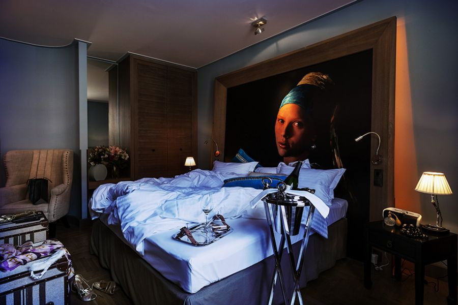 Hungarian Hotel room with pop art influences of Andy Warhol