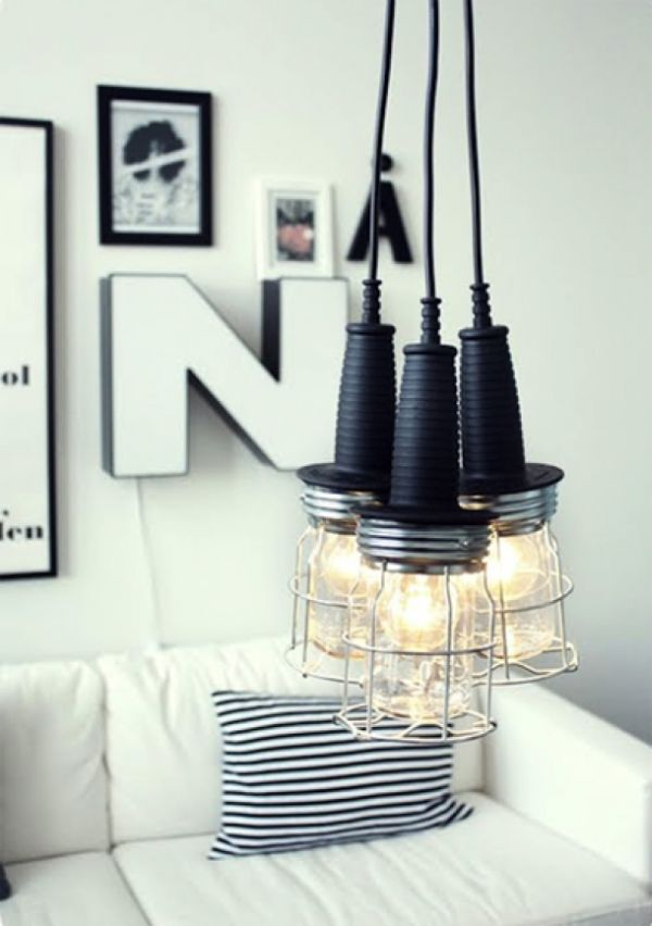 50 coolest diy pendant lights view in gallery industrial styled diy pendants aloadofball Image collections