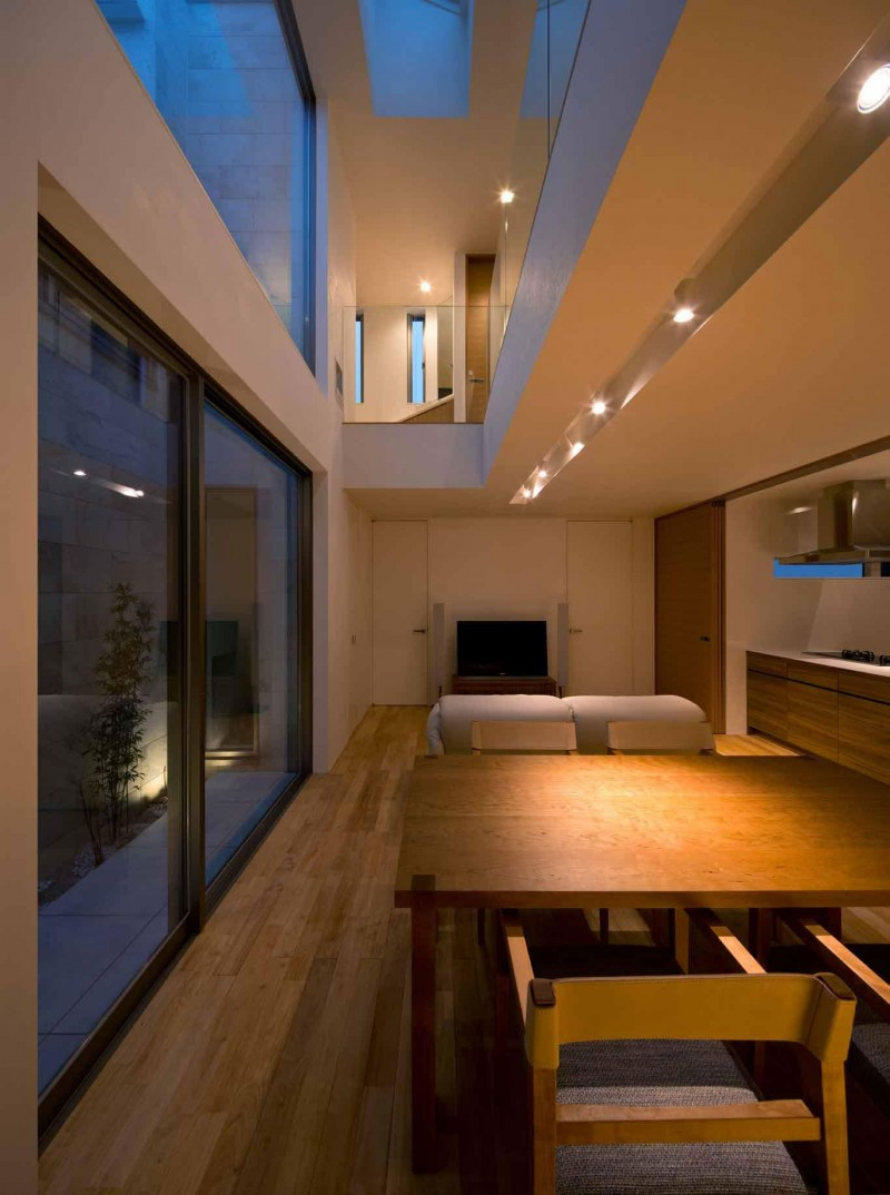 Interior of House of Corridor in Japan