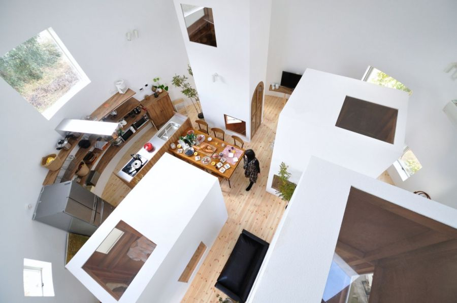 Interior of cylindrical home