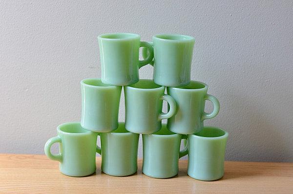 Jadeite mugs