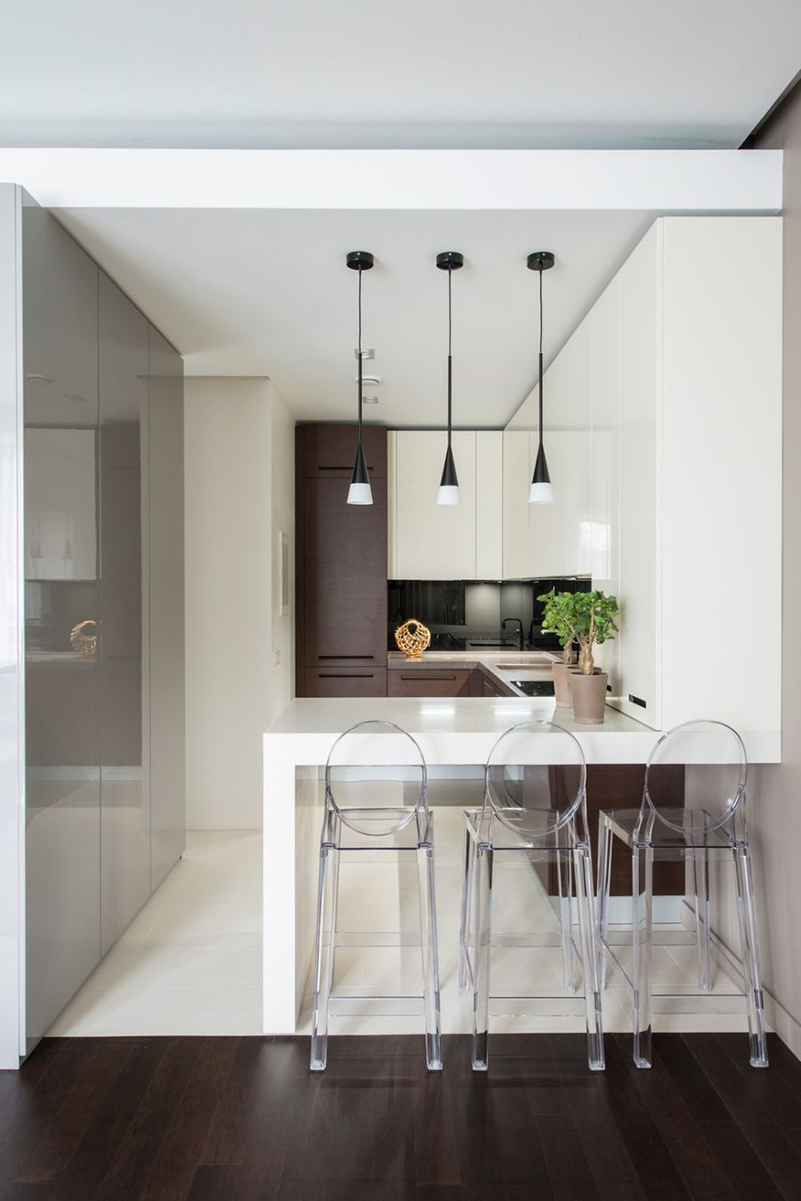 Kitchen of the minimalst home