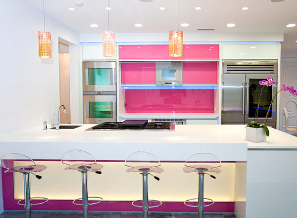Kitchen with candy colors