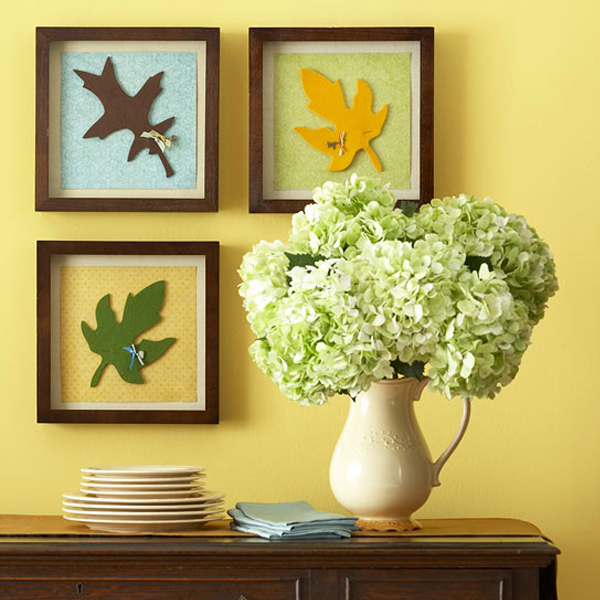 Leaf print wall art