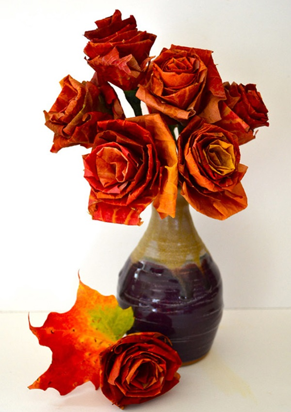 Leaf rosette bouquet diy