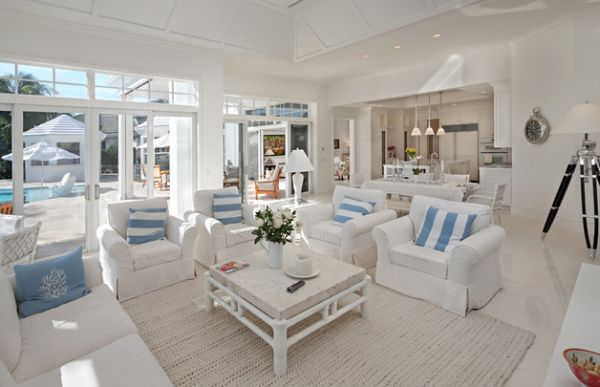 Living room has a fresh and airy appeal