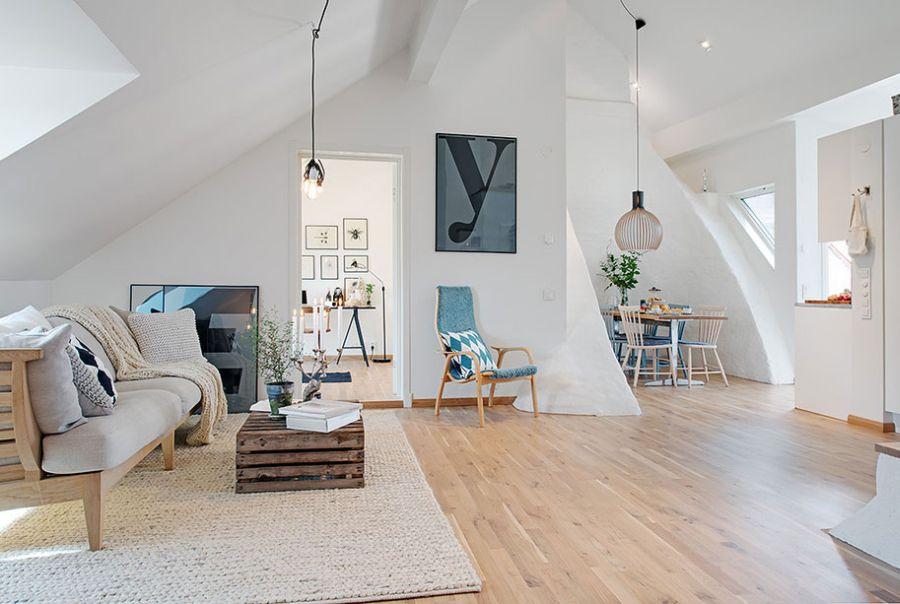 Living space of the Rosengatan apartment