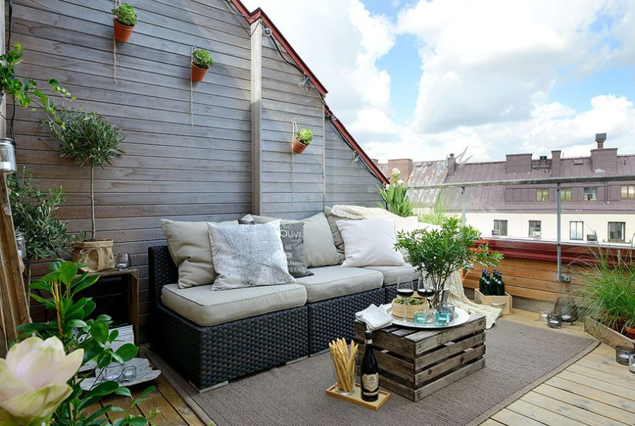 Lovely Gothenburg apartment terrace