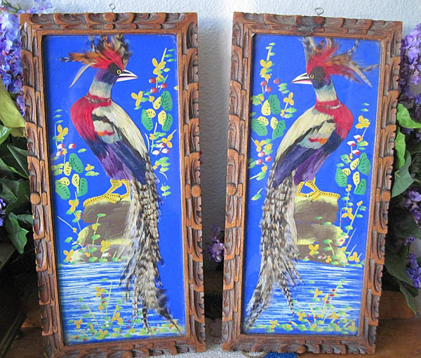 Mexican feather folk art