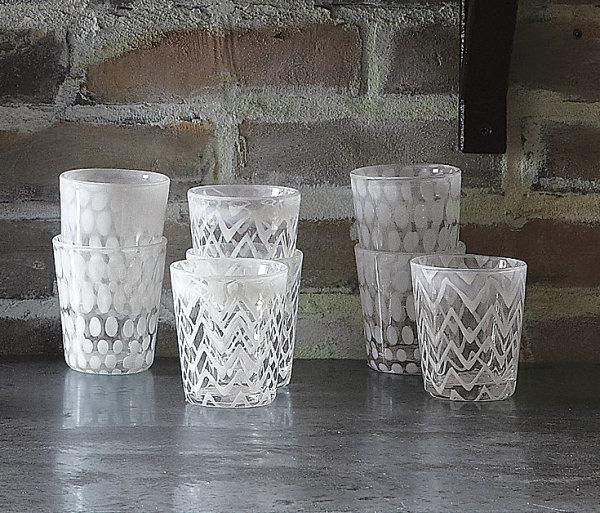 Milky white glassware