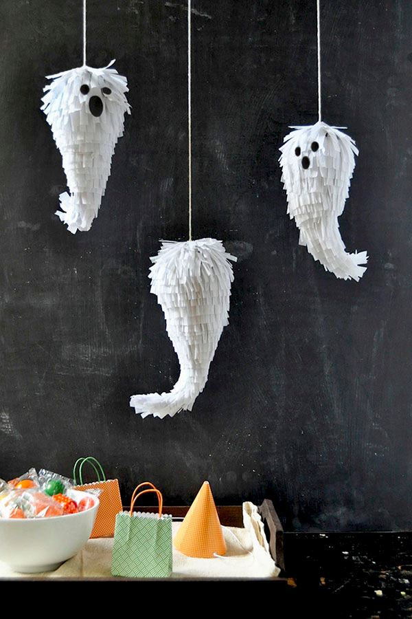 Mini ghost pinatas