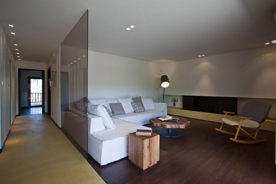 Modern apartment in Greece Stylish Glass Screens And Sleek Design Shape Smart Greek Apartment
