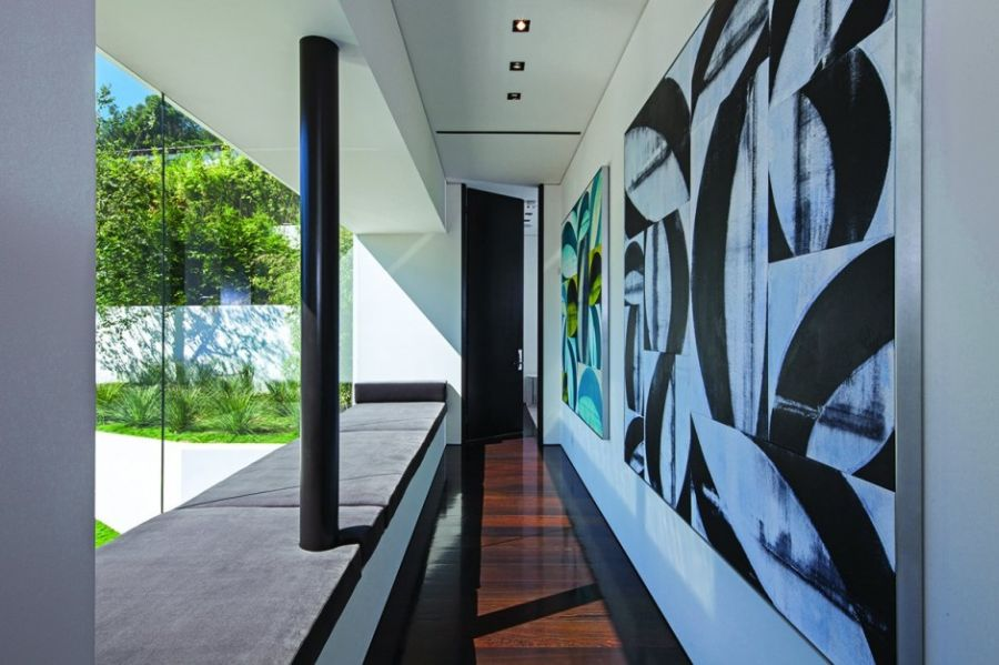 Modern artwork on the walls