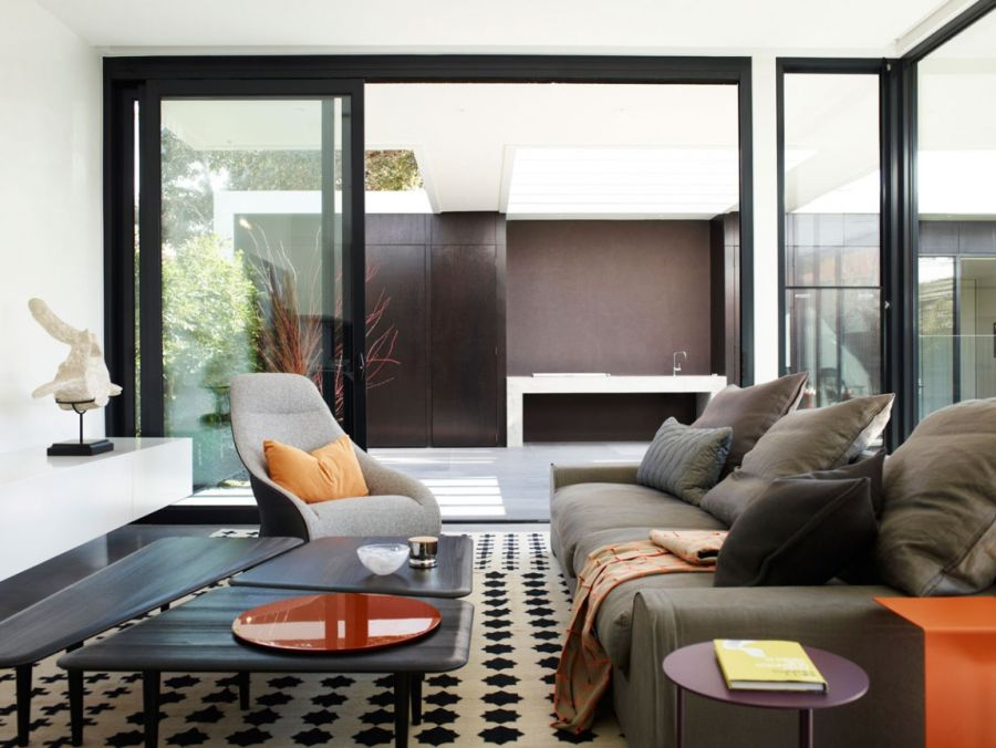 Modern living room of Melbourne House