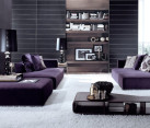Modular purple sofa