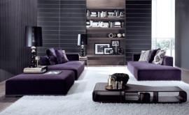 Modular purple sofa