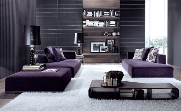 Modular purple sofa Visions of Violet: The Power of Purple Furniture