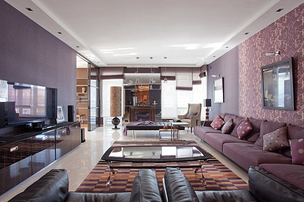 Moscow apartment with purple hues Visions of Violet: The Power of Purple Furniture