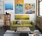 Moss green sofa