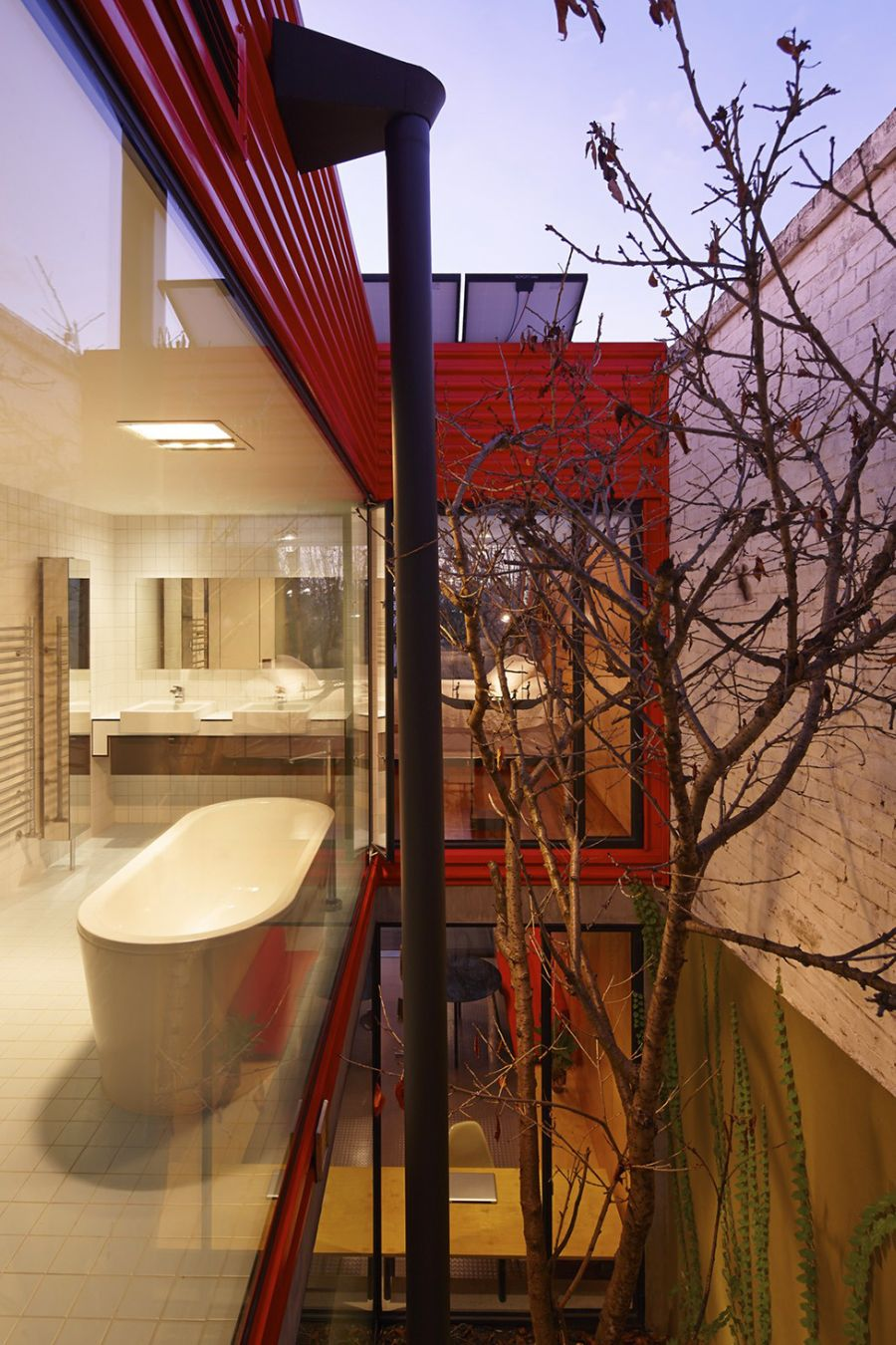 Natural courtyard encased in Glass