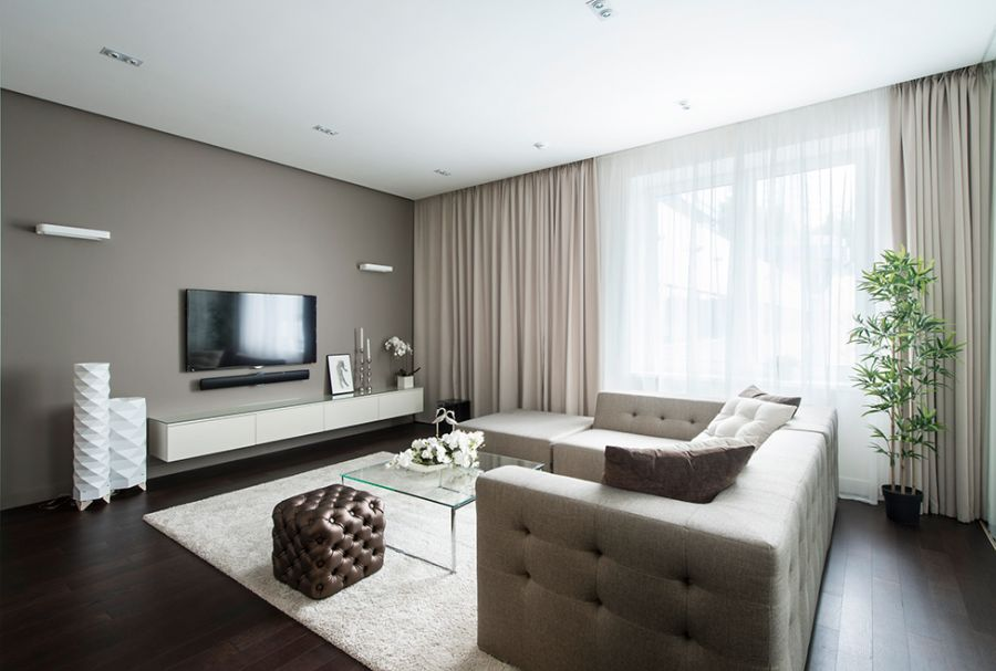 Natural light floods into the living space