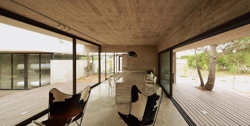 Open floor living plan of the Argentinian Home
