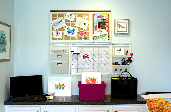 Home office organization ideas for Home office wall decor ideas