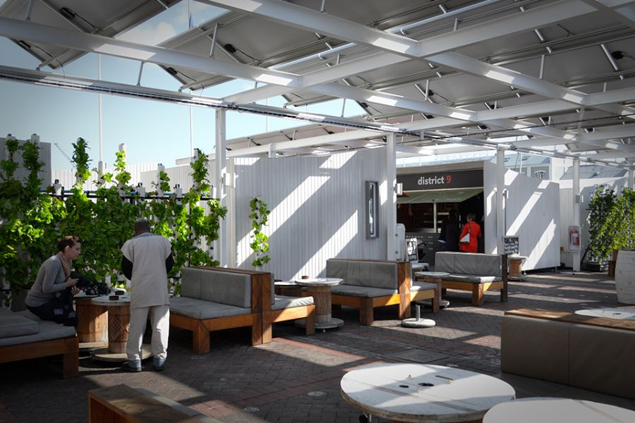 Moyo restaurant sustainable agriculture meets modern for Interior and exterior design of restaurant