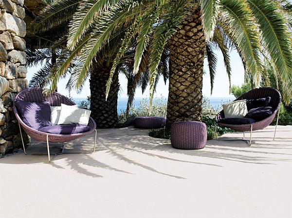 Outdoor purple furniture finds