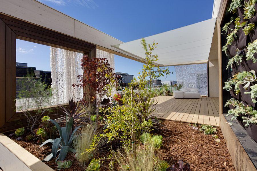 Outdoor vertical garden idea