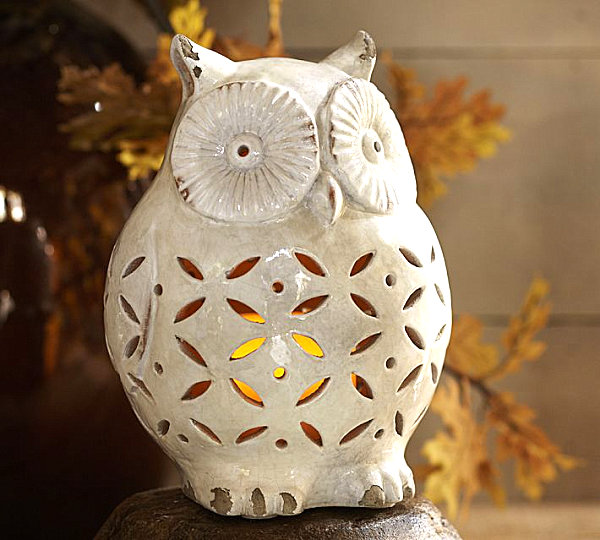 Owl luminary LAST DETAILS WITH 20 FABULOUS DECOR IDEAS FOR HALLOWEEN LAST DETAILS WITH 20 FABULOUS DECOR IDEAS FOR HALLOWEEN Owl luminary