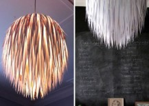 Paper Scrap Pendant DIY 217x155 50 Coolest DIY Pendant Lights