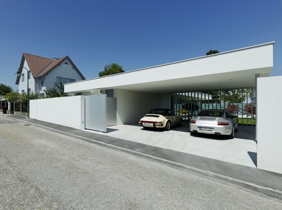 Parking at the Austrian home