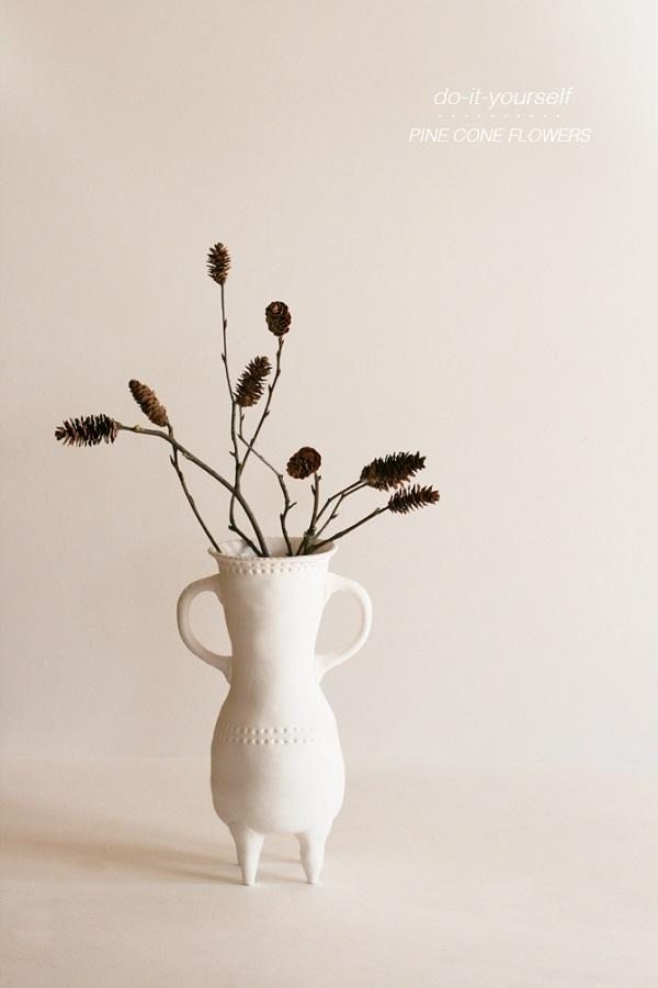 Pine cone flower centerpiece