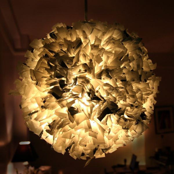 View In Gallery Plastic Bag Pendants DIY