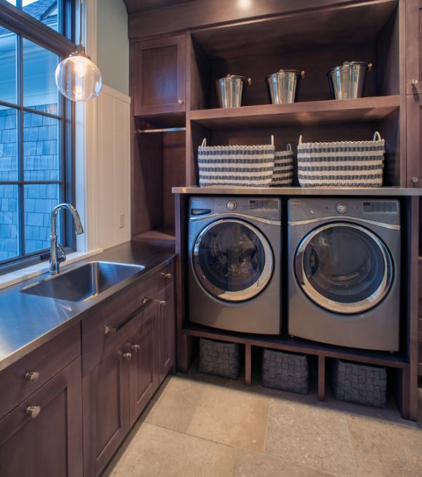 33 laundry room shelving and storage ideas