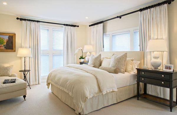 Plush white linen in the bedroom