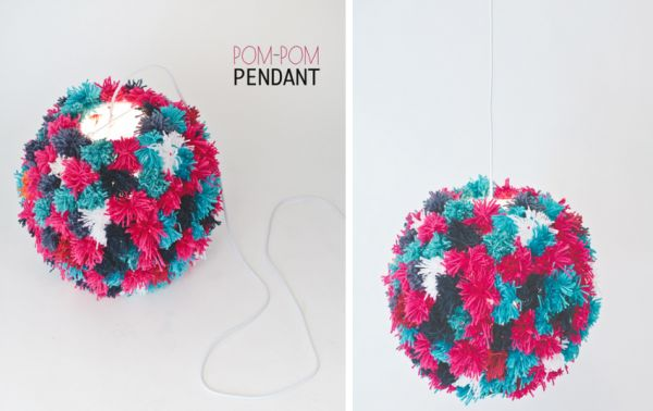 Pom-Pom Pendant Light DIY