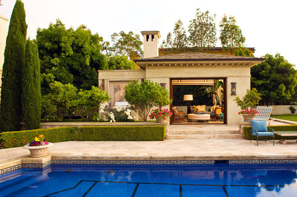 Poolside cabana garden cottage