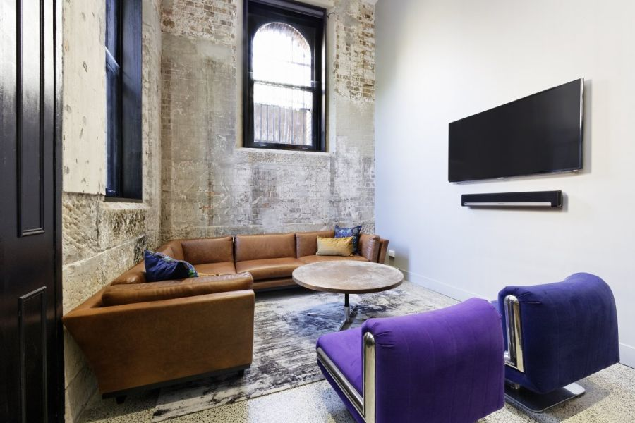 Private suite with 55-inch flat screen for your entertainment
