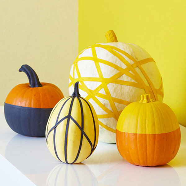 Pumpkin decoration with masking tape