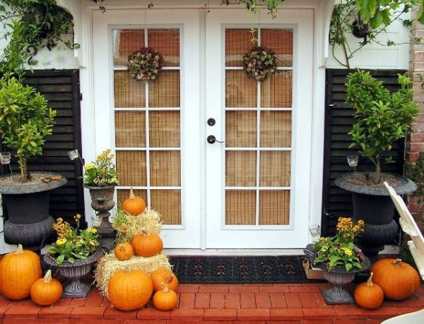 Pumpkins bring in both the Halloween and fall themes