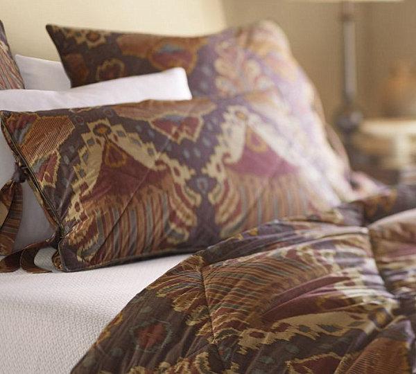 Purple ikat bedding