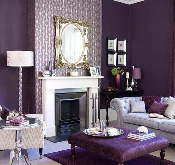 Purple ottoman