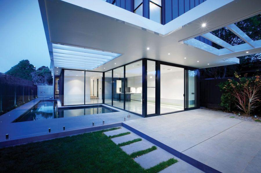 Recessed lighting outdoors