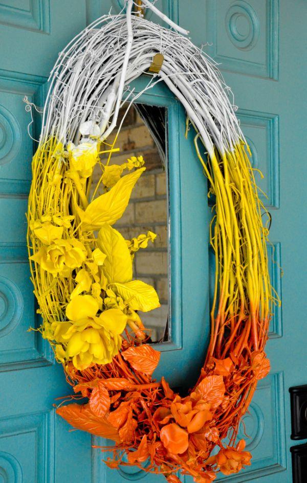 Recycled Halloween wreath